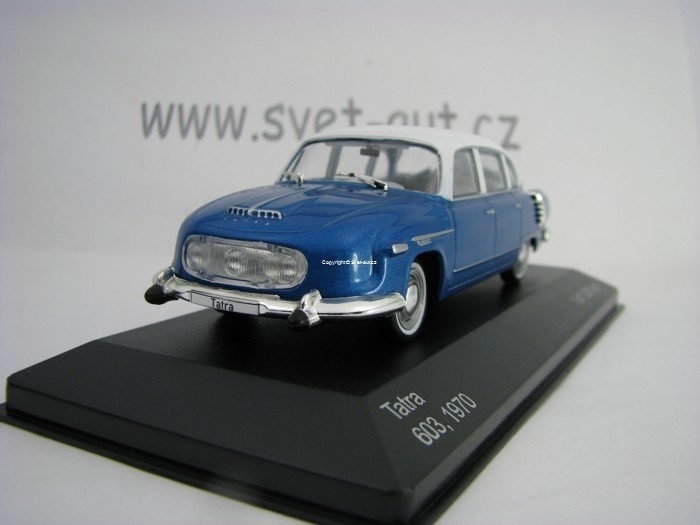 Tatra 603 1970 Metal Blue White 1:43 White Box